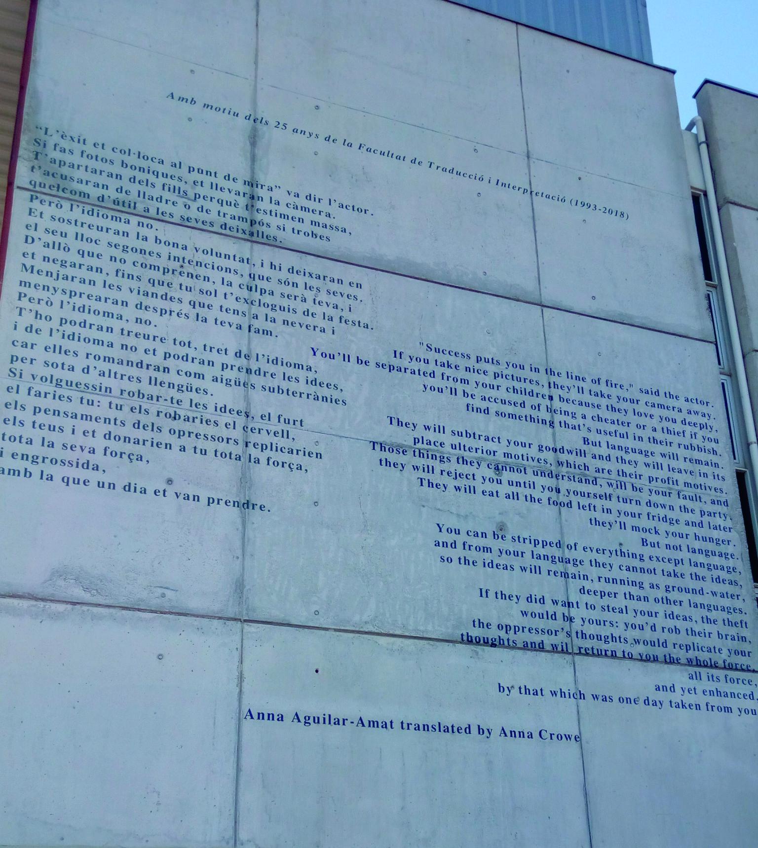 UAB pintura altura facultad traducion interpretacion